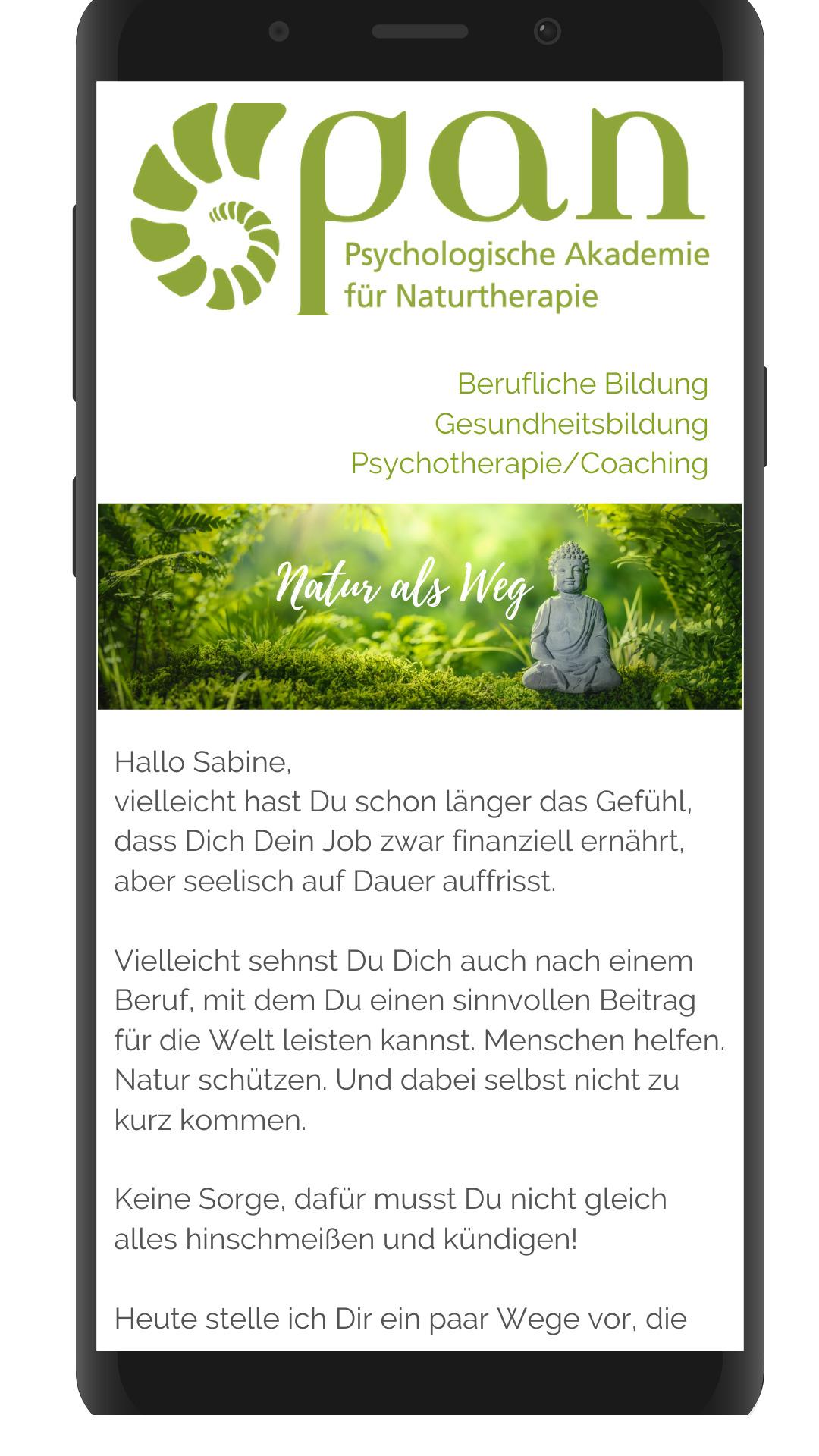 Newsletter Naturtherapie